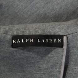 Ralph Lauren Grey Jersey Equestrian Blazer M