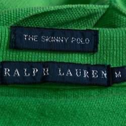 Ralph Lauren Green Ombre Cotton Pique Skinny Polo T-Shirt M