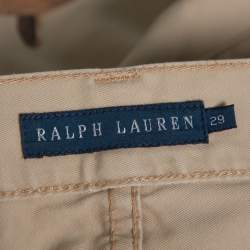 Ralph Lauren Beige Equestrian Print Cotton Thompson 650 Pants M