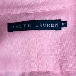 Ralph Lauren Pink Cotton Button Front Shirt L