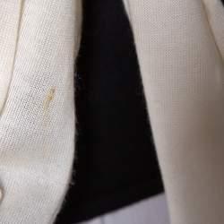 Ralph Lauren Monochrome Cashmere & Silk Front Tie Detail Sleeveless Top M