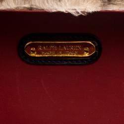 Ralph Lauren Leopard Print Calfhair Satchel