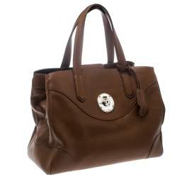 Ralph Lauren Brown Leather Ricky Tote