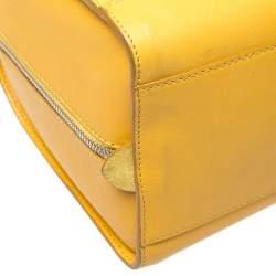 Ralph Lauren Yellow Leather Stirrup Boston Bag