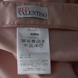 RED Valentino Blush Pink Scalloped Faille Skirt M
