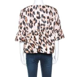 Red Valentino Pale Pink Leopard Print Lightweight Jacket XL