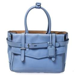 Reed Krakoff Sky Blue Leather Boxer Tote
