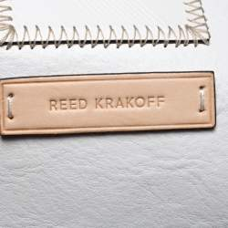 Reed Krakoff Tan/White Leather Atlantique Tote