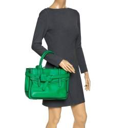 Reed Krakoff Green/Black Leather Boxer Tote