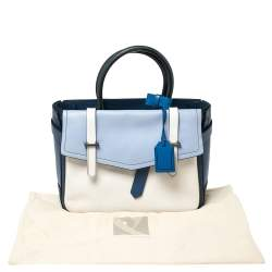 Reed Krakoff Blue/White Leather Boxer Tote
