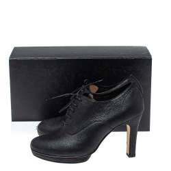 Repetto Black Leather Lace Up Platform Booties Size 40
