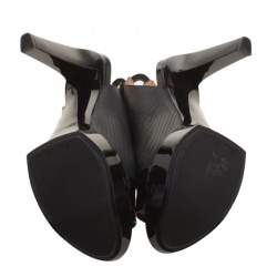 Robert Clergerie Black Leather Slingback Sandals Size 38