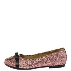 Roberto Cavalli Angels Pink Glitters Ballet Flats Size 37