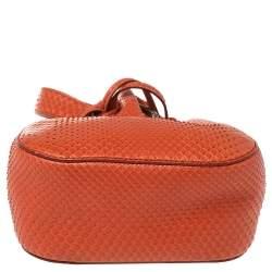 Roberto Cavalli Orange Python Secchiello Mini Bag