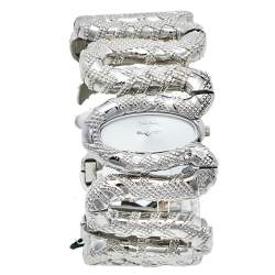 Roberto Cavalli Silver Stainless Steel Cleopatra R7253195515 Women's Wristwatch 40 mm