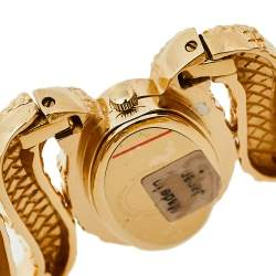 Roberto Cavalli Yellow Gold Plated Stainless Steel Cleopatra R7253195517 Women's Wristwatch 40 mm