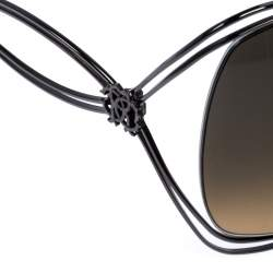 Roberto Cavalli Green Gradient Peonia 526S Oversize Sunglasses