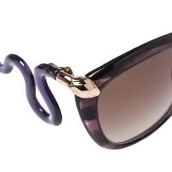Roberto Cavalli Purple/ Brown Gradient 1038S Castelnuovo Square Sunglasses
