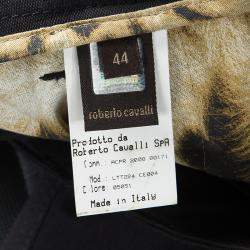 Roberto Cavalli Black Denim Flared Bottom Jeans M