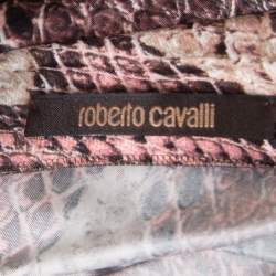 Roberto Cavalli Animal Printed Ruched One Shoulder Dress S