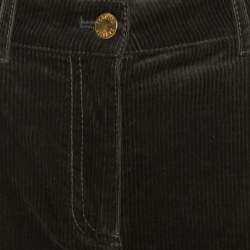 Roberto Cavalli Multicolor Denim Patch Detail Corduroy Pants M