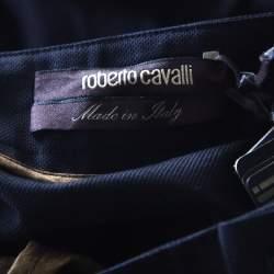 Roberto Cavalli Black Cotton Maxi Skirt S