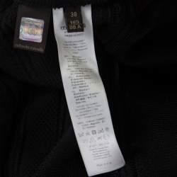Roberto Cavalli Black Knit Lace Insert Sleeveless Fitted Dress S