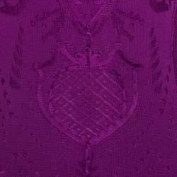 Roberto Cavalli Fuschia Crochet Knit Sleeveless Maxi Dress S