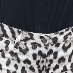 Roberto Cavalli Brown/Pink Ombre Animal Print Cotton Flare Leg Jeans S