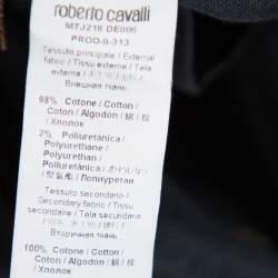 بنطلون روبرتو كافالي فضفاض دنيم أسود S