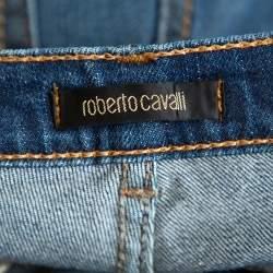 Roberto Cavalli Blue Medium Washed Denim Straight Leg Jeans L