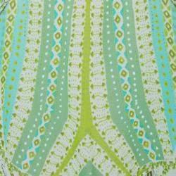 Roberto Cavalli Green Print Oversized Chiffon Top S