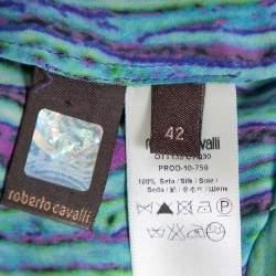 Roberto Cavalli Multicolor Silk Kaftan Dress M