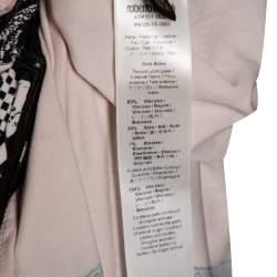 Roberto Cavalli Multicolor Printed Jersey Cutwork Neckline Detail Maxi Dress S