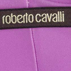 Roberto Cavalli Multicolor Printed Draped Dress S