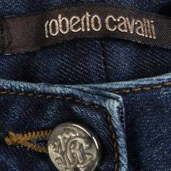 Roberto Cavalli Indigo Faded Effect Denim Jeans S