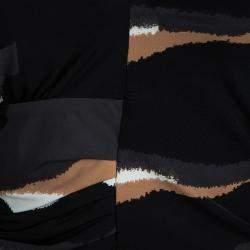 Roberto Cavalli Multicolor Animal Printed Knit Top and Maxi Skirt Set L