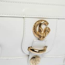 Roberto Cavalli White Patent Leather Pouch