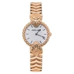 ساعة يد نسائية روبرتو كافالي باي فرانك مولر RV2L042M0051  ذهب وردي عيار 18  وستانلس ستيل كريستال  32 مم