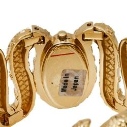 Roberto Cavalli Champagne Gold Tone Stainless Steel R7253195517 Cleopatra Women's Wristwatch 40MM