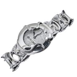 Roberto Cavalli Silver Stainless Steel Snake Women's Wristwatch 37 mm
