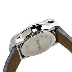 Roberto Cavalli Silver Stainless Steel Snake 7251165615 Women's Wristwatch 38 mm