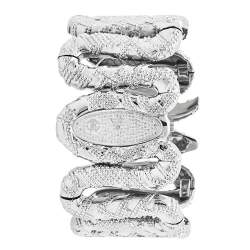 Roberto Cavalli Silver Stainless Steel Cleopatra R7253195615 Women's Wristwatch 40 mm