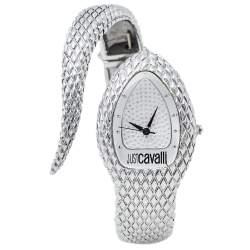 Just Cavalli Silver Stainless Steel Serpent Bracelet Poison JC7253153515 Women's Wristwatch 27 mm