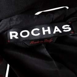 Rochas Black Embellished Eye Motif Detail Two Button Blazer L