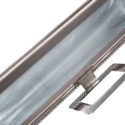 Roger Vivier Metallic Silver Satin Belle Clutch