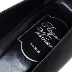 Roger Vivier Black Patent Leather Ballerina Size 37.5