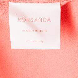 Roksanda Ilincic Neon Orange Wool Shorts S
