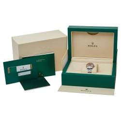 Rolex Pink 18K White Gold Stainless Steel Diamonds Oyster Perpetual 176234 Women's Wristwatch 26 mm