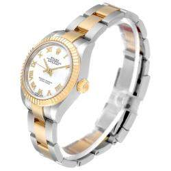 Rolex White 18K Yellow Gold And Stainless Steel Datejust 279173 Women's Wristwatch 28 MM